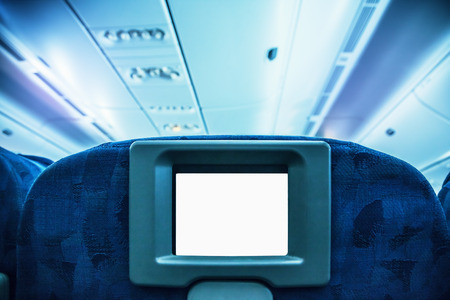 airplane: Aircraft monitor in passenger seat