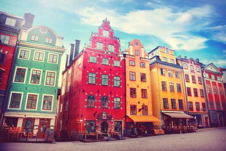 case colorate: Stortorget posto a Gamla stan, Stoccolma