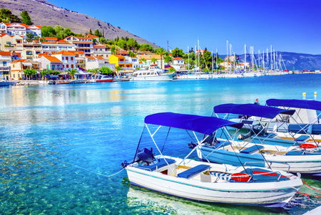 kefallonia: Fishing boats at the coast of Kefalonia, Greece