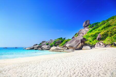 similan: Similan rock island Stock Photo