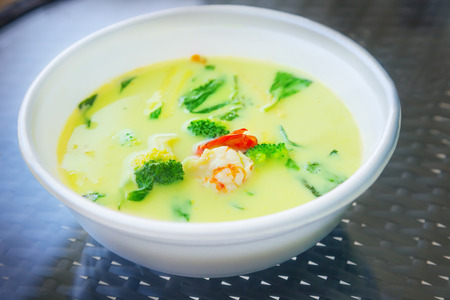 Soup with coconut milk