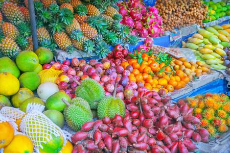 asian produce: Fruit marke