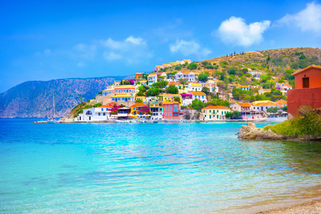 kefallonia: Assos beach in Kefalonia, Greece Stock Photo