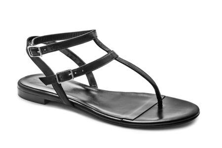 sandal: Sandalia aislado sobre fondo blanco