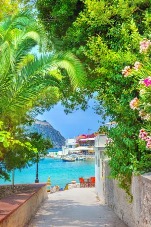 Assos village in Kefalonia, Greece Stock Photo