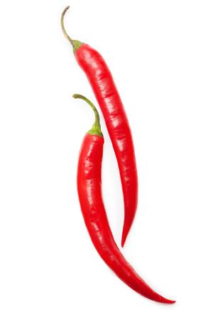 Cihili paprika's op wit wordt geïsoleerd Stockfoto