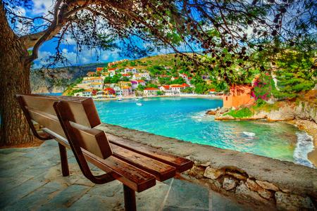 cefalonia: Assos village on Kefalonia island, Greece