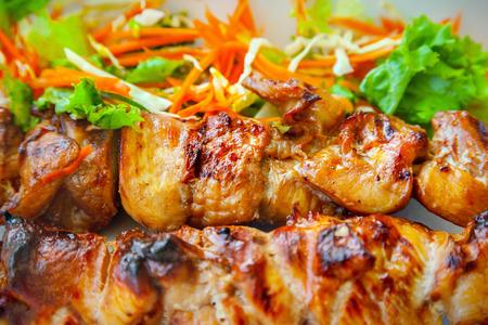 meat skewers: Meat skewers