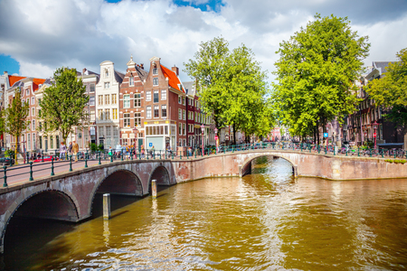 canal street: Canal in Amsterdam
