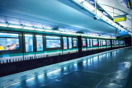 La station de métro à Paris Banque d'images