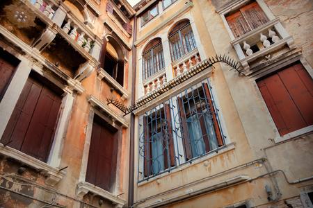 Venetian building facade Stock Photo