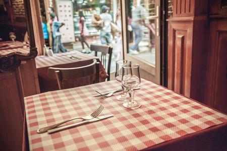 French cafe Stok Fotoğraf
