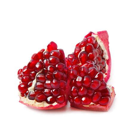 pomegranat: Pomegranate isolated on white Stock Photo