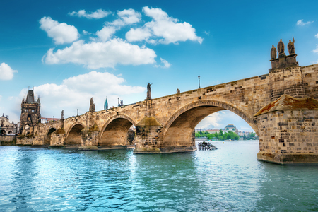 Charles Bridge, Prague, Czech Republic 스톡 콘텐츠