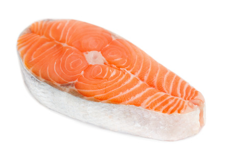 Salmon steak Standard-Bild
