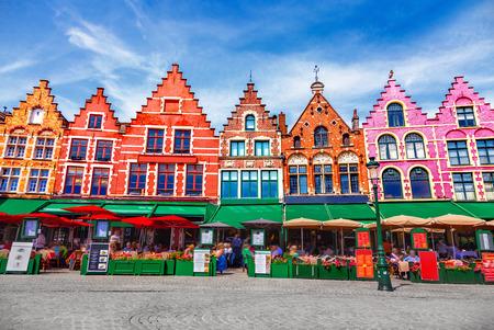 Plac Grote Markt w Brugii Zdjęcie Seryjne