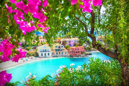ionian: Assos village in Kefalonia, Greece Stock Photo