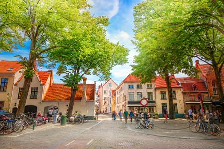 Street of Brugge, Belgium Stock Photo