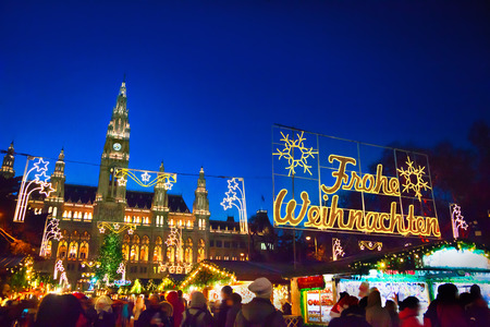 Christmas market in Vienna Stock Photo
