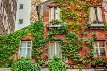 Facade of building in Paris, Stock Photo