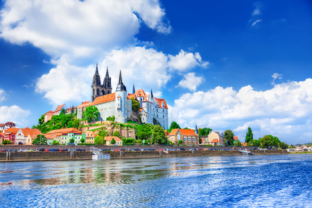 View of Meissen Castle, Germany Stock Photo
