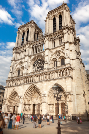 View of Notre dame de Paris 免版税图像 - 115474626