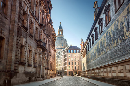 The historic center of Dresden. Germany