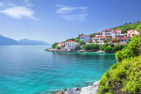 Fiskardo village, Kefalonia island, Greece Stock Photo