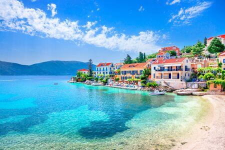 Fiskardo village in Kefalonia island, Greece