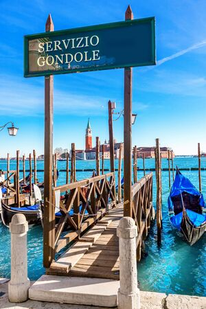 Grand canal on sunny day in Venice, Italy. Standard-Bild
