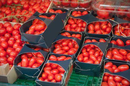 Close up of cherry tomatoes Foto de archivo