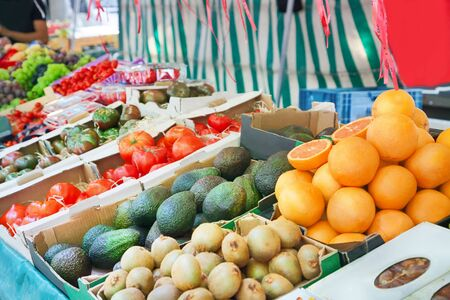 Fresh fruits at the market