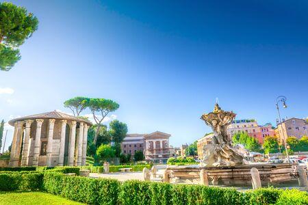 Boario forum temple and square, Rome Italy