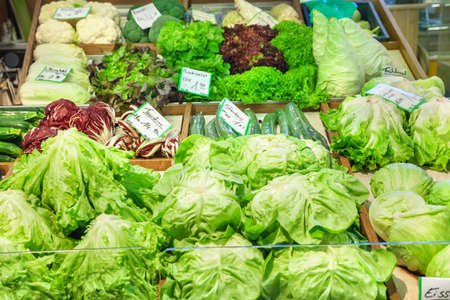 Vegetables at a market stand