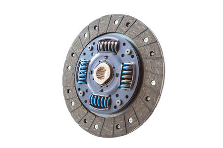 Car clutch plate isolated on a white Banque d'images
