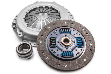 Car clutch isolated on a white Stockfoto