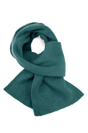 Wool scarf on white background