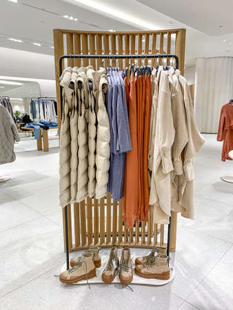 Interior of fashion clothes store Stock fotó