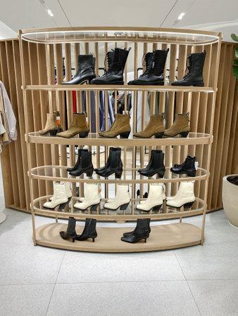 Interior of fashion clothes store