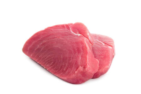Tuna steak isolated on white background Standard-Bild