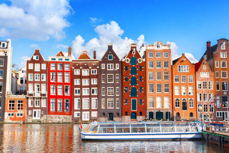 Typical dutch houses in Amsterdam, Netherlands