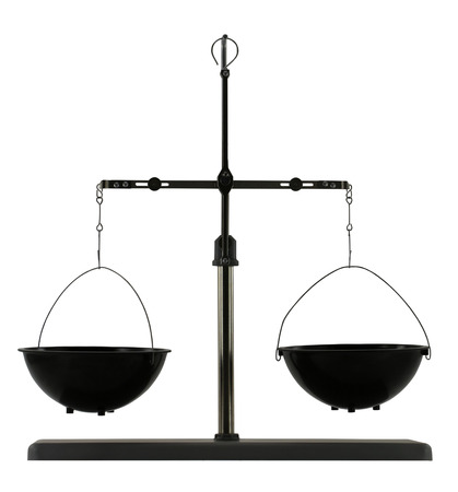 quo: Equilibrium scales isolated on the white background