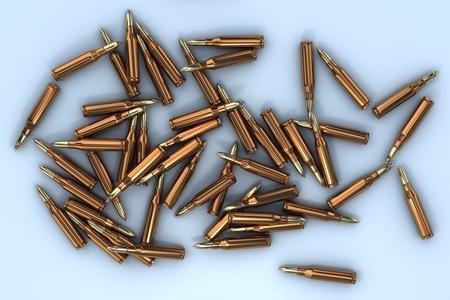 semi automatic: Bullets Stock Photo