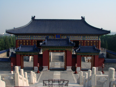 house of prayer: Exotic prayer house of ancient Chinese emperor Stock Photo
