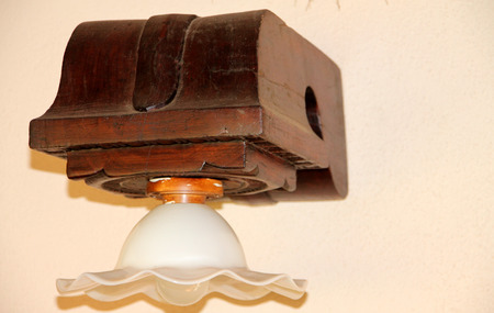 Decorated lampshade with good use of carved rosewood