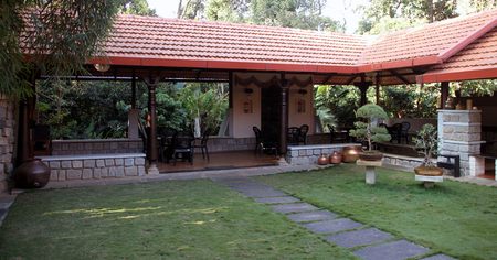 antiques: A serene place to relax amidst trees, grass and antiques