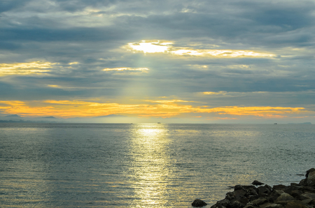 Ocean twilight at Koh Samet, Thailand  photo