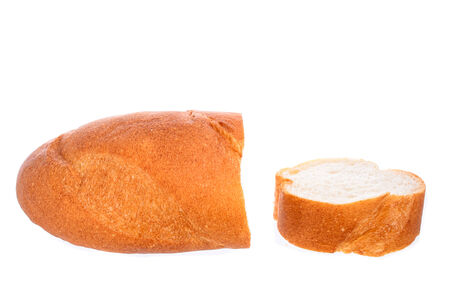 long loaf: long loaf isolated on white background