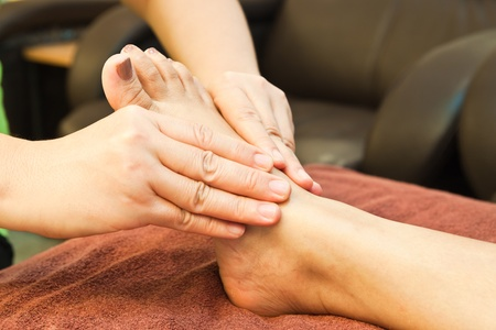 reflexology foot massage, spa foot treatment,Thailand Stock Photo - 8846895