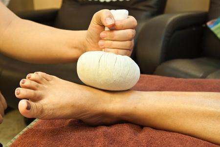 reflexology foot massage, spa foot treatment,Thailand Stock Photo - 8846902